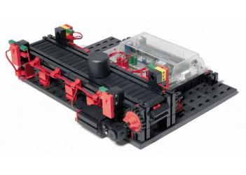 Модель ленточного транспортера 9 В с ROBO TX / Conveyor Belt 9V DC, fischertechnik