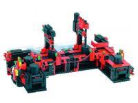 Модель конвейера с двумя постами обработки 9 В с 2 x ROBO TX