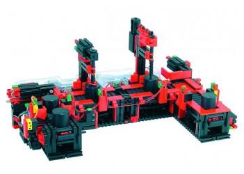 Модель конвейера с двумя постами обработки 9 В с 2 x ROBO TX, fischertechnik